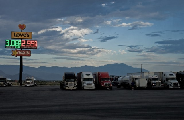 Sunday morning at a truck stop by Randy Heinitz